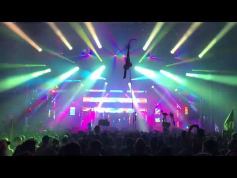 Rainbows and Waterfalls Pretty Lights  at Camp Bisco