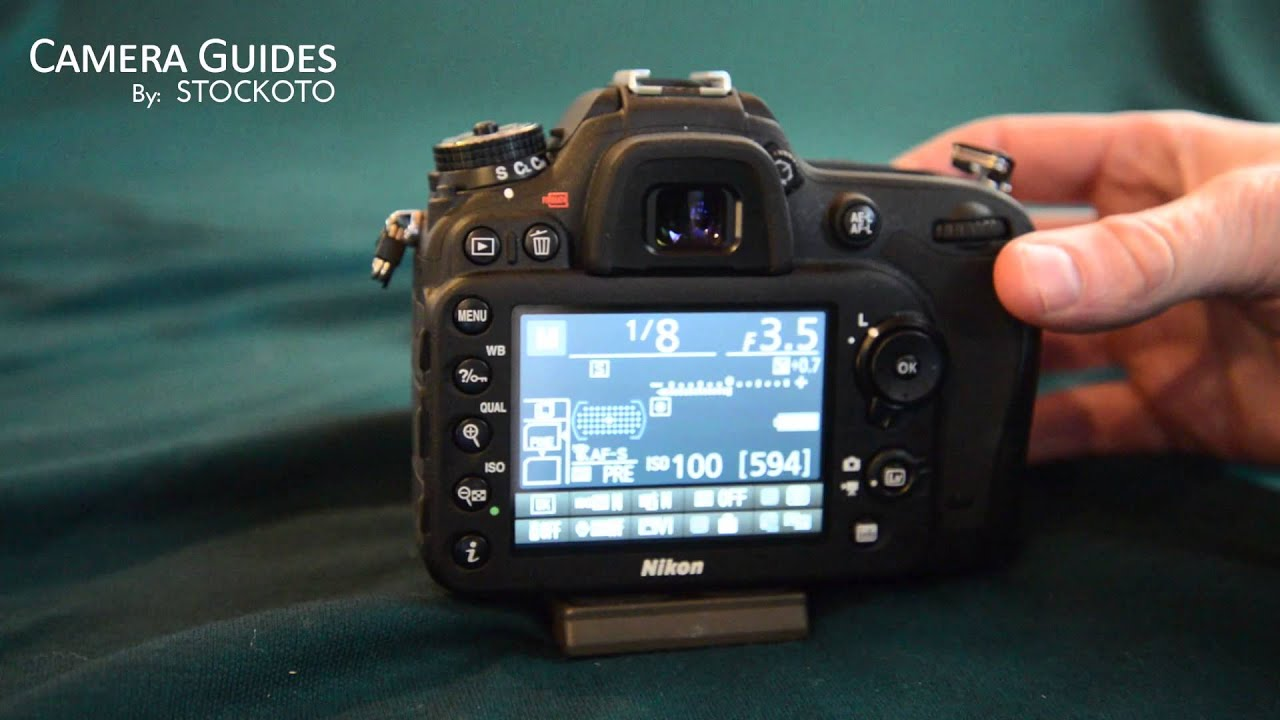 How To Change Shutter Speed On The Nikon D7100 Youtube