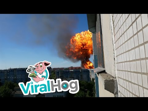Gas Explosion in Novosibirsk, Russia || ViralHog