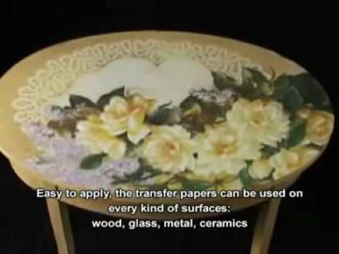 Decoupage in rilievo su legno as relief on wood youtube - Decoupage su mobili in legno ...