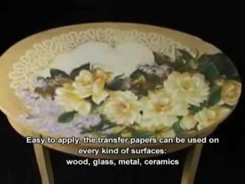 Decoupage in rilievo su legno-...