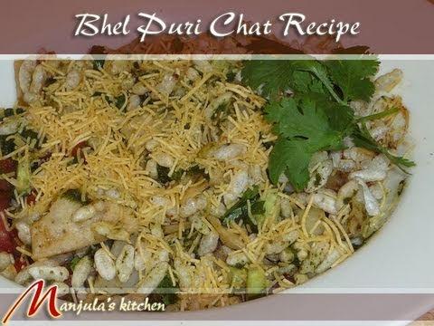 Bhel Puri (Chaat) Indian Snacks Recipe by Manjula