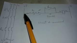 Schéma de demarrage direct d'un moteur électrique a triphasé