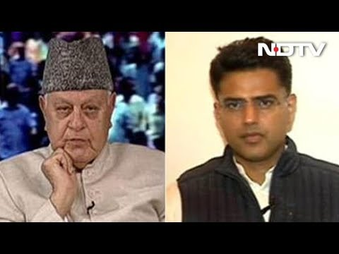 When Sachin Pilot And Farooq Abdullah Met On NDTV Show