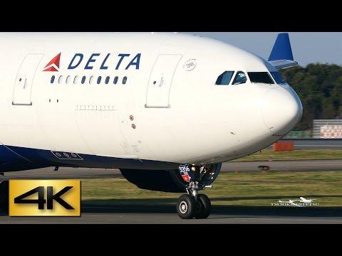 【4K】Beautiful Landing Delta Air Lines Airbus A330-223(N856NW)@Narita Japan