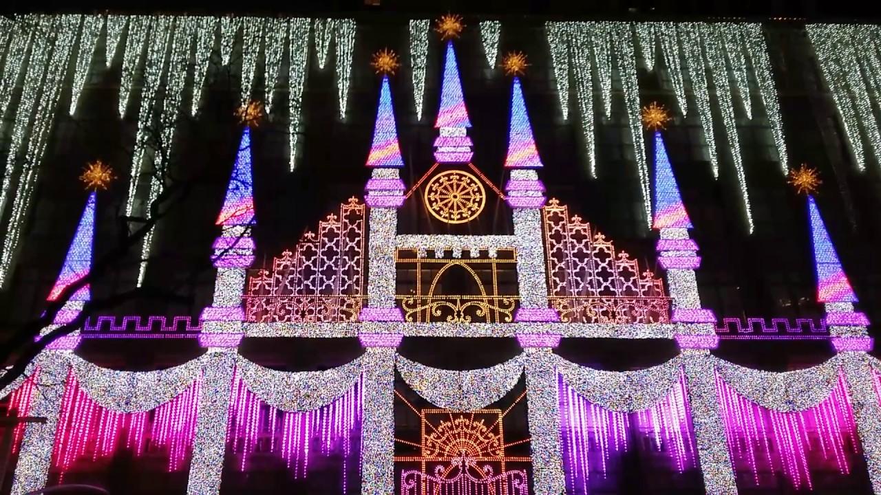 Saks Fifth Avenue Christmas Light Show 2020 Schedule Saks Fifth Avenue Holiday Light Show 2016   NYC   YouTube