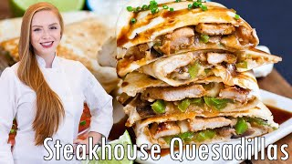 Steakhouse Mushroom Pork & Pepper Quesadillas