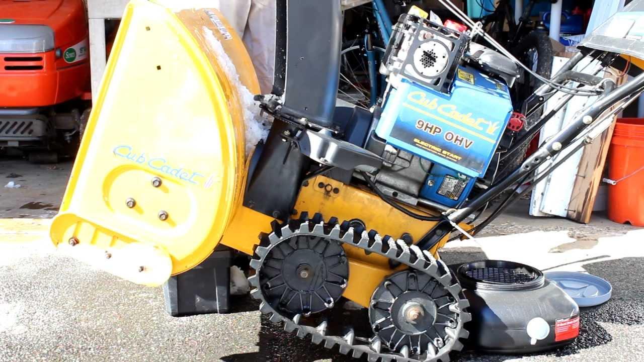 snow blower oil change cub cadet 926 ste 726 snowblower oil repair service w tracks canon t3i youtube [ 1280 x 720 Pixel ]
