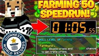 *WORLD RECORD* Farming 50 Speedrun!! -- Hypixel Skyblock
