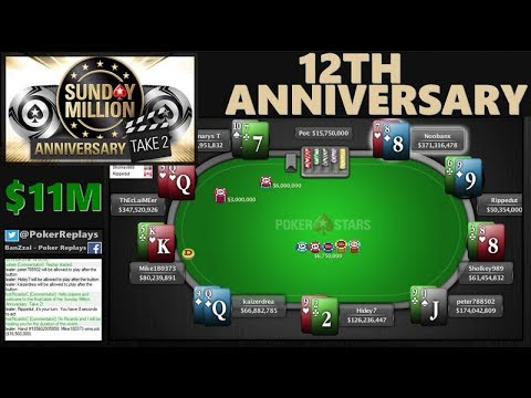 SUNDAY MILLION 12th Anniversary Take2 | $11M Prizepool, $1M for first