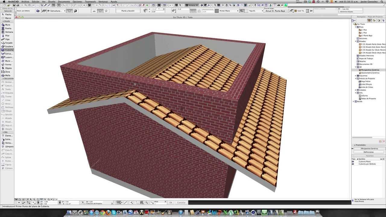 Archicad 16 tutorial 7 cubiertas youtube - Cubiertas para casas ...
