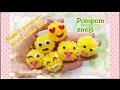 How to make 6 pompom at the same time Pompom emoji 毛毛球 表情符號