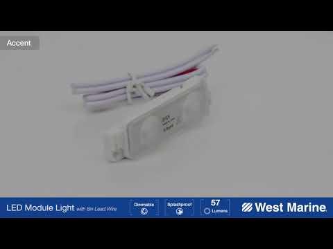 WEST MARINE Two LED Module Light, Dual Mount, White