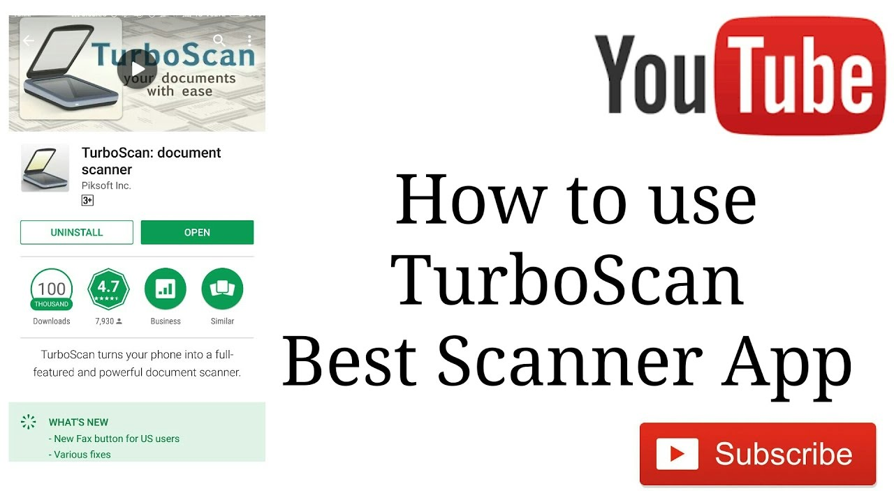 Android - TurboScan App Support