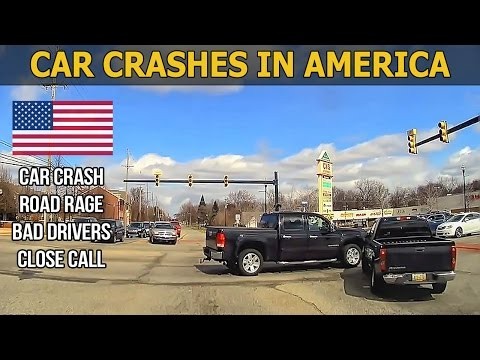 Car Crashes in America (USA) bad drivers, Road Rage 2017 # 7