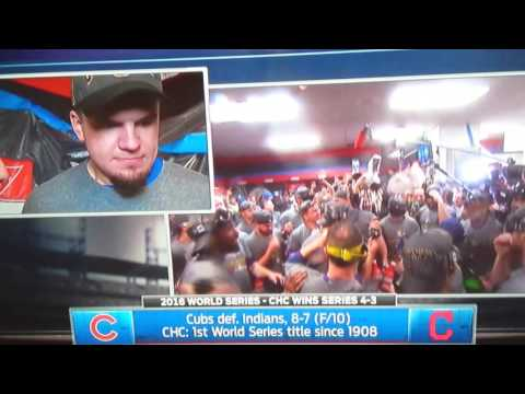 An emotional Kyle Schwarber post Cubs World Series Win!