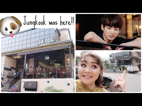 Dog Café in Gangnam~ JUNGKOOK WAS HERE!! | Vlog