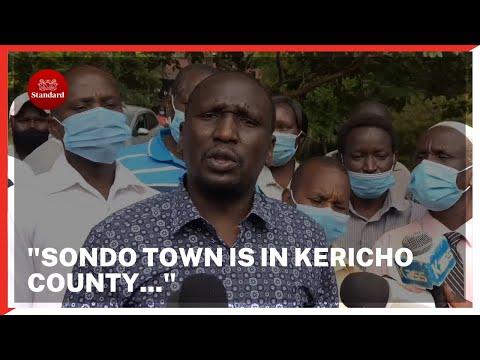 Senator Cheruiyot says Sondu town is in Kericho county and not Kisumu, wants border dispute resolved