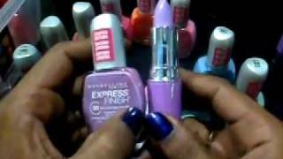 maybelline nail polish collection (plus limecrime lipstick shade mint to be,dlilac comparison) Thumbnail