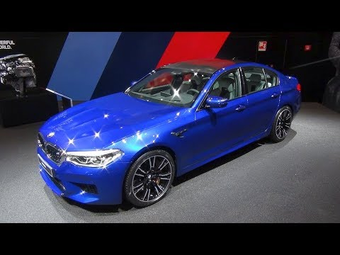 2018 bmw v8.  bmw 2018 bmw m5 f90 v8 blue walkaround interior exterior  iaa 2017 with bmw v8