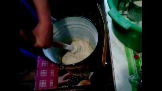 Приготовление теста и выпечка пшеничного хлеба в домашних условиях.