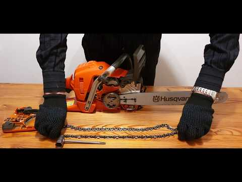 Husqvarna Chainsaw. Fitting The Bar And Chain