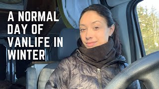 A Normal Day of Vanlife in the Winter as a Solo Female Traveler New Hampshire