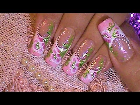 One stroke flower advanced free hand nail art design tutorial one stroke flower advanced free hand nail art design tutorial youtube prinsesfo Gallery