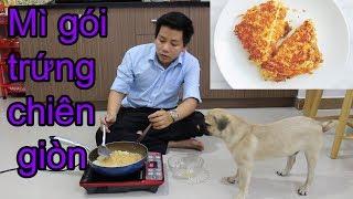 Cách làm MÌ GÓI TRỨNG CHIÊN - Nấu ăn cùng Chó Pug - Pugk vlog