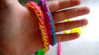 Видео урок как сделать браслет из резиночек  французская коса!?