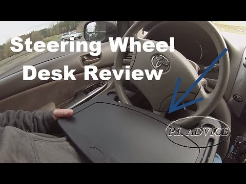 ae56de6b22f2 Steering Wheel Desk Review For Private Investigators