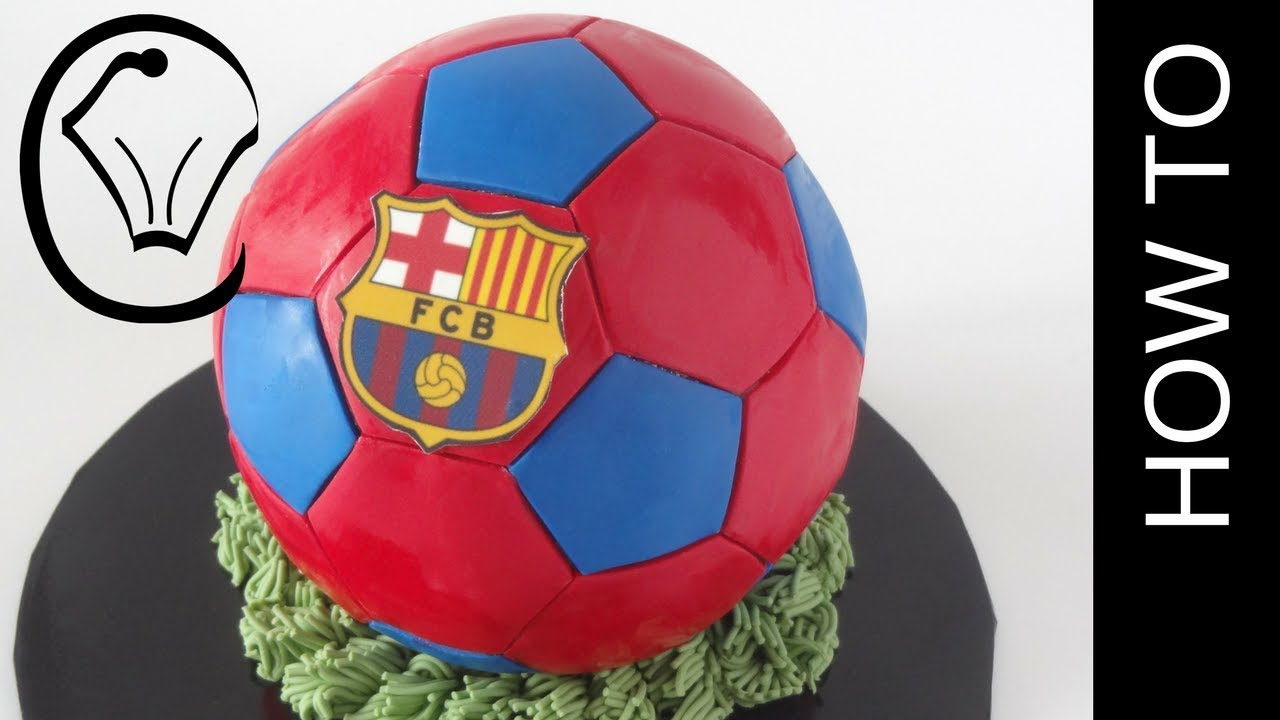 Fc Football Cake Barcelona Soccer Ball Cake By Cupcake Savvy S Kitchen