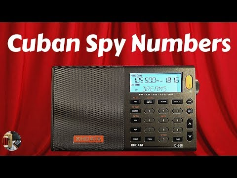 XHDATA D-808 Shortwave Radio 9330kHz Cuban Numbers Station