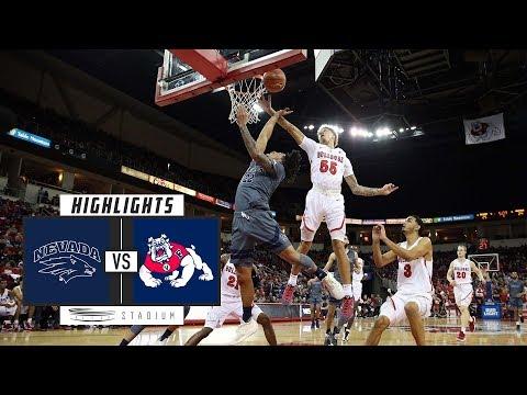 No. 10 Nevada vs. Fresno State Basketball Highlights (2018-19) | Stadium