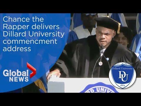 Chance the Rapper offers life advice to Dillard University grads