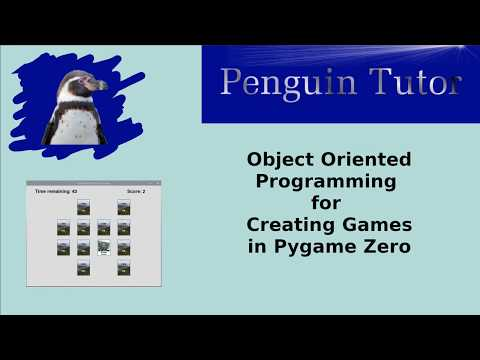 Object Oriented Programming For Creating Computer Games In Pygame Zero