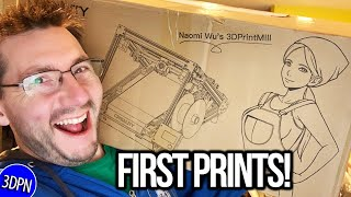 Unboxing the Creality CR-30 - Naomi Wu's #3DPrintMill BELT PRINTER!