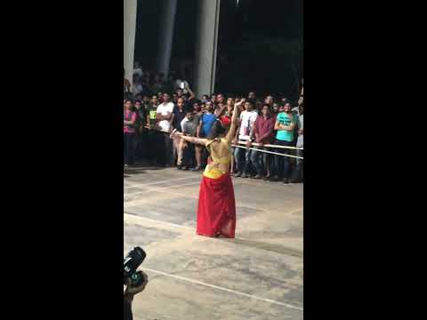 Hot Belly dance performance in Boys hostel at Nicmar college, Pune