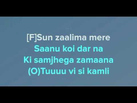Sun Mere Humsafar karaoke with lyrics high quality