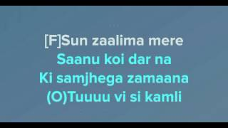 Sun Mere Humsafar karaoke with lyrics high quality