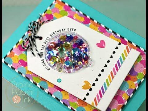 Sss Balloon Shaker Card Best Birthday Card Kit Youtube