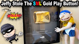 Jeffy STOLE The SML Gold Play Button!!! *BTS*