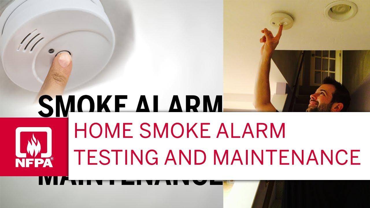 Smoke Alarm Testing And Maintenance Youtube