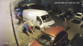 ЖК София, ул  Боголюбова, 14, поджог автомобиля 06 09 2016