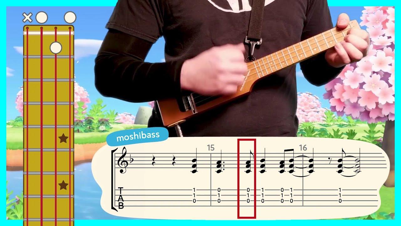 Animal Crossing New Horizons Theme Ukulele Tutorial Youtube