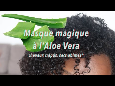 masque magique l 39 aloe vera pour cheveux cr pus secs et abim s youtube. Black Bedroom Furniture Sets. Home Design Ideas