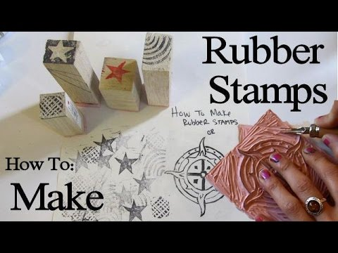 How to Make Rubber Stamps and Block Carvings YouTube