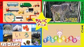 赤ちゃん・子供向け 知育アニメ★色・数字・動物の模様★泣きやむ・笑う・喜ぶ★Japanese educational animation for kids