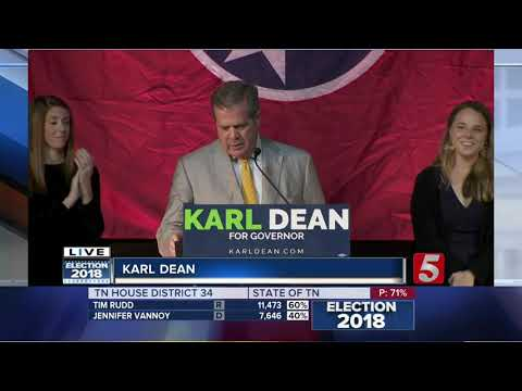 Karl Dean gives his concession speech in TN Governor's race