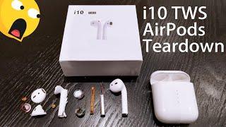 New Updated i10 TWS AirPods + Teardown & Testing 😱😲